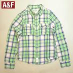 アバクロ ネルシャツ チェック Abercrombie&Fitch アウトレット品 長袖 メンズ Sサイズ ライトグリーンetc