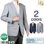 ジャケット メンズ サマージャケット クールマックス COOL MAX 涼しい クールビズ 春夏秋 ビジネス 濃紺 グレー ジャケパン ゴルフ 218303