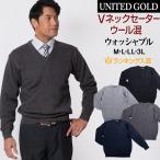 セーター メンズ ビジネス Vネックセーター ニット 洗える ウォッシャブル ウォームビズ WARM BIZ ウール混 319457 送料無料