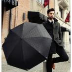 ショッピング折りたたみ ビジネス用 折りたたみ傘 黒 ブラック おしゃれ ワンタッチオープン 自動オープン 三つ折り傘 自動開 メンズ カサ かさ デザイン 紳士 無地 梅雨 折り畳み傘