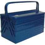(スチール 工具箱 ツールボックス 道具箱 おしゃれ)TRUSCO トラスコ 3段式工具箱 412X220X343 ブルー GT410B