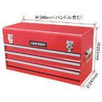 (スチール製工具箱)アストロプロダクツ ツールボックス 3段 ベアリング レッド BX763 2003000007633