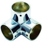 (手すり・スロープ)フジテック パイプ継手三方エルボ・32mm(ネジ止め付) B-28414