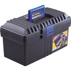 (プラスチック 工具箱 ツールボックス 道具箱 おしゃれ)TRUSCO トラスコ バンパーボックス 全長420mm  TFP-410