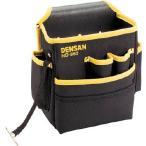 (腰袋 工具袋 工具入れ おしゃれ)デンサン 電工キャンバスハイポーチ  ND-860