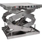 直送品 代引不可 (ステンレス製リフター)ビシャモン ステンテーブルリフト  2X1000607AB-HL