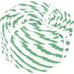 (標識ロープ)TRUSCO トラスコ 標識ロープ 3つ打 7.5mm×100m 白・緑 R9100WGN