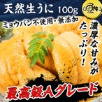 海胆 - 生うに チリ産 ウニ 最高級Aグレード 100g 刺身用 ミョウバン不使用 無添加 冷凍