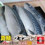 サバ 半身フィーレ 20枚入り 1枚約125g 肉厚トロ鯖 塩