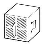 INAX LIXIL・リクシル トイレ シャワートイレ用付属部品 脱臭カートリッジ CWA-29 スーパーセピオライト 脱臭カートリッジ (寸法 45×45×40)[新品]