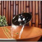 ミズタニバルブ 洗面用立水栓(滝吐水・受け皿陶器) トールタイプ【ML010L】 [新品]【NP後払い不可】