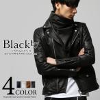 Black by VANQUISH ブラックバイヴァンキッシュ ベジタブルゴートレザーダブルライダースジャケット