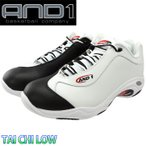 AND1 TAI CHI LOW タイチ ロー 白黒 バッシュ メンズ バスケットシューズ D301MWBR 男性用 運動靴