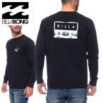 ビラボン メンズ Tシャツ 長袖 ロンT クルーネック オリジナル柄 ブラック BILLABONG BB012055