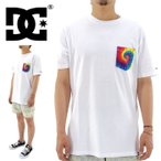 DC ポケT メンズTシャツ タイダイ ポケットTee 白Tシャツ 16 TIE DYE POCKET SS TEE(5226J605)