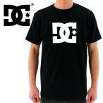 ショッピングDC DC SHOES(ディーシー)  定番ロゴTシャツ DC STAR 「5126J701 BKW」ブラック 半袖 半そで ティーシャツ 黒x白 ネコポス
