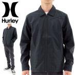 「セール」ハーレー メンズジャケット HURLEY ブルゾン コーチジャケット MJK0001110 黒 ブラック トップス