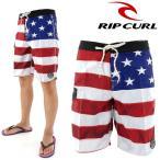 「セール」 メンズ ボードショーツ サーフパンツ RIPCURL リップカール ストレッチ 海パン 星条旗 W01-529