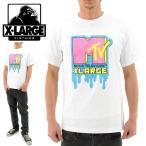 「セール」 X-LARGE MTVコラボTシャツ DRIPPING MTV LOGO 01164106 WHITE  エクストララージ 白 Tシャツ
