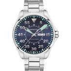 ファッション用品 腕時計 ハミルトン メンズ H64715145 Hamilton KHAKI AVIATION PILOT AUTO Mens Watch Black Dial SS Bracelet 平行輸入品