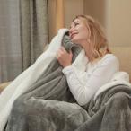 毛布 ダブル 人気 二枚合わせ厚手毛布 エアコン対策 フランネル ブランケット 200X200cm マイクロファイバー 暖かい 柔らかい 肌触りにやさしい グレー