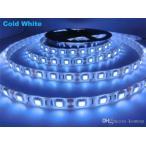 ショッピングLED LEDテープライト 24v 5m 防水 青ブルー smd5050 高輝度SMD ベース白 切断可能両面テープ加工