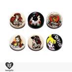 ラウンジフライ LOUNGEFLY × DISNEY PIN Series1 【A】 / 缶バッチ 缶バッジ ディズニー コラボ アリエル 白雪姫 ベル ジャスミン ティンカーベル バンビ