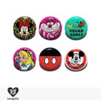 ラウンジフライ LOUNGEFLY × DISNEY PIN Series1 【D】 / 缶バッチ 缶バッジ ディズニー コラボ ミニー チェシャ猫 ミッキー 白雪姫 ライオンキング