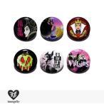 ラウンジフライ LOUNGEFLY × DISNEY PIN Series3 VILLAINS 【B】 / 缶バッチ 缶バッジ ディズニー コラボ ヴィランズ マレフィセント クイーン 毒りんご