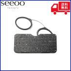 SEEOO 老眼鏡 シーオ Luxury コンパクト ポケットサイズ リーディンググラス 専用ケース付 鼻眼鏡 ブラック 度数+2.00〜2.50
