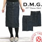 ドミンゴ ひざ丈スカート DMG デニムスカート ワンウォッシュ レディース D.M.G (17-159A-29-1)