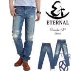 エターナル ジーンズ Eternal リメイクジーンズ 5ポケットデニムパンツ ストレートジーンズ ボトムス パンツ