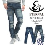 エターナル ジーンズ Eternal 備中倉敷工房 リメイクジーンズ 5ポケットデニムパンツ ストレートジーンズ