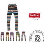Healthknit ヘルスニット 幾何学パターンレギンス スパッツ ズボン下 インナー メンズ レディース