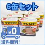 TULIP チューリップ ポークランチョンミート うす塩味 340g×6缶 送料無料商品 レターパックプラス