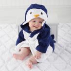 ベビーアスペン 男の子用まるごとハッピーペンギンさんタオル地フード付きバスローブ babyaspen