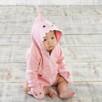 ベビーアスペン 女の子用ベビーピンク3D立体サメさんフード付きジップアップジャケットxベビーミトン2点セット babyaspen
