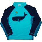 ジンボリー GYMBOREE 男の子用マリンブルー潮吹きクジラさん長袖ラッシュガード水着 青くじら柄スイムウェア 水着 UPF50
