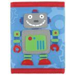 ステファンジョセフ 男の子用水色ロボットのお財布 青小銭入れ 青小物入れ ベビー用ポーチ デザインのさいふ 柄子供用財布