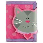 ステファンジョセフ Stephen Joseph 女の子用ピンクハートねこさんのお財布 ネコ 猫小銭入れ小物入れ 紫ベビー用ポーチ さいふ 子供用財布