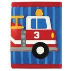 ステファンジョセフ 男の子用ブルー消防車のお財布 ファイアトラック柄小銭入れ 青小物入れ ベビー用ポーチ 乗り物デザインのさいふ 働く車柄子供用財布