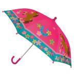 ステファンジョセフ 女の子用ピンクポニー雨の日もへっちゃらカラフルアンブレラ 馬傘 雨具 梅雨対策グッズ Stephen Joseph 花柄かさ カサ