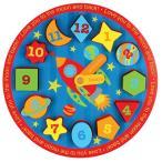 ステファンジョセフ 男の子用宇宙ロケット木製クロックパズル 算数遊び 数遊び 知育おもちゃ ごっこ遊びトイ Stephen Joseph