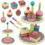 ステファンジョセフ 3歳以上対象 女の子用カラフル木製カップケーキクッキング超豪華15点セット