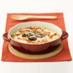 グラタン皿 陶器 赤 コルクマット付き グラタン お皿 おしゃれ 楕円形 洋食器 ミニ オーブン対応