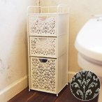 収納ラック トイレ コーナー 3段 トイレ収納 リビング収納 棚 おしゃれ スリム収納 三段ラック