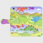iPhoneケース 手帳型 Android iPhone5 iPhone5s iPhone6 iPhone6s iPhone6Plus iPhone6sPlus iPhoneSE 恐竜 イラスト 漫画 キャラクター かわいい