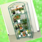 温室 ビニール温室 ミニ温室 簡易温室 植物 栽培 ガーデニング ビニールハウス 家庭用 小型 4段