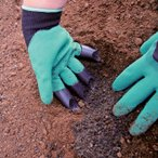 園芸用手袋 爪付き 右手 グローブ スコップ シャベル 植え替え 草取り 雑草取り 潮干狩り ラテックス 手袋 ガーデニング 園芸