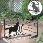 ガーデンフェンス 犬 イヌ 猫 ネコ スチール製 折り畳み 折りたたみ DIY 組み合せ ガーデニング 庭 おしゃれ